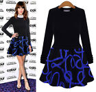 2014 Vintage Women Winter Autumn Evening Party Cocktail Long Sleeve Casual Dress