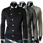 Neuf Homme Manteaux Chaud Mens Single Breasted Trench Coats Jackets Outwear Tops