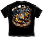 USMC Home of The Free Because of Brave High Quality T shirt  Print Both Sides