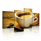 FOOD&DRINK Drink Coffee 11 4A-RH Canvas Framed Printed Wall Art ~ 4 Panels