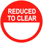 Reduced To Clear Price Point Stickers Sticky Labels 20 25 30 35 or 45mm