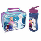 Girls Lunch Bag Disney Frozen Anna Elsa Olaf New School Lunch Water Bottle Box