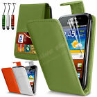 LEATHER FLIP CASE COVER FITS SAMSUNG GALAXY ACE PLUS S7500 SCREEN PROTECTOR
