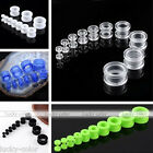 2x Acrylic Ear Plug Tunnels Double Flare Stretcher Expander Gauges Body Piercing