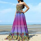 Plus Size Prom Dress Maxi Party Coast Purple Sundress Summer Sexy XL 1X 2X 3X 4X