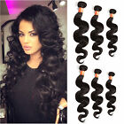 "IN USA 100G MALAYSIAN NATURAL BLACK WAVE HAIR 1 or 3BUNDLES Human hair 12""20"""