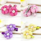 1Pair Girls Baby Kids Pearl Hairpin Hair Clips Accessories Bubble Sunflower Gift