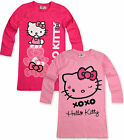 Girls Hello Kitty Nightie Kids Pink Nightdress New Nightwear Age 3 4 6 8 Years
