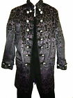 Perpetual Vogue Brocade Rocker Stage Coat Fully Lined Plum Black