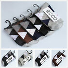 FREE wholesale Mens 1 pairs Warm cotton rhombus lattice hand-sewn socks 5 color