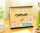 2015 Cartoon Animal Desk Calendar Stand Flip Calendar Lovely Rabbit Bear Pig