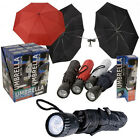"""21"""" UMBRELLA WITH TORCH FOLDING BRIGHT LED LIGHT VISIBLE MENS WOMENS COVER SUPER"""