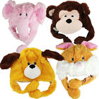 MAGIC MOVERS SOFT CUDDLY PLUSH TOY KIDS ANIMAL HAT FUN WINTER MOVING EARS WARM