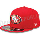 New Era 5950 SAN FRANCISCO 49ERS On Field NFL Sideline Cap Fitted Hat Red