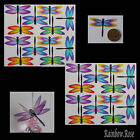 Transparent Film Dragonfly #53 Rainbow Size 3 UN-CUT 6, 12 or 24 suncatchers 3D