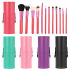 Pro 12pcs Makeup Brush Set Cosmetic Tool Kit w/ PU Leather Holder Storage Case