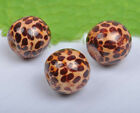 Brown wood Leopard grain wood Charms loose beads 10MM 12MM 16MM 20MM
