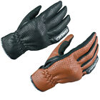 ARMR MOTO SHL435 SHORT LEATHER ARMOURED MOTORCYCLE BREATHABLE URBAN BIKE GLOVES