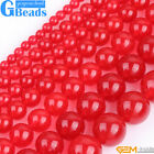 "Red Jade Gemstone Round Beads For Jewelry Making Free Shipping 15"" 4mm 6mm 8mm"