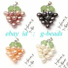 5-6mmx7-8mm Freshwater Pearl Pendant Grape Shape Fashion Jewelry Free Shipping