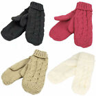 90553- Ladies Cable Design Mittens 4 Colours- Cream, Grey, Pink&Beige.