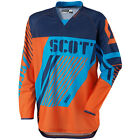 Scott 350 Track MX Motocross Jersey / DH Fahrrad Trikot blau/orange 2015