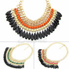 Bohemian Jewelry Pendant Crystal Layered Choker Chunky Statement Bib Necklace