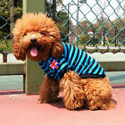 2014 CHEAP New Pet Dog Cotton Stripe Cloth Clothing Costume T-Shirt Tops Blouse