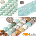 Natural Heart Love Amazonite Jewelry Making loose gemstone beads strand 15""