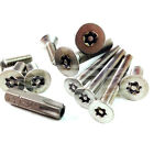 M6 (6mm) A2 COUNTERSUNK CSK SECURITY SCREWS 6 LOBE PIN TX TORX ANTI VANDAL