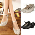 NEW Womens Jelly Rubber Floral Round Toe Beach Sandals Summer Wedge Heels Shoes
