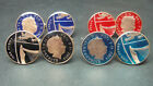 UK British enamelled coin cufflinks One New Penny  2008 - 2015 choice of year