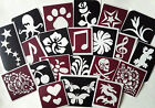 BN Self Adhesive Temporary Tattoo Stencils for Body Art - ONLY 99p FOR SET OF 3!
