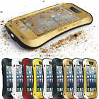 Heavy Duty Waterproof Rugged Aluminum Metal Bumper Gorilla Glass Case For iPhone