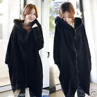 New Women Lady Plus Size Winter Warm Coat Hooded Zip Long Sleeve Outerwear M~6XL