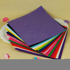 "10 x Polyester Crafting Felt Fabric Handicraft Sewing Scrapbooking 12"" Square"