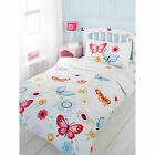 Fresh & Colourful Butterfly Duvet Cover In White Pink Red And Blue- For Girls