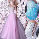 SWEET SHINE NEW LONG PROM DRESS FORMAL EVENING PARTY PAGEANT GOWN PRINCESS DRESS