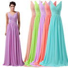 Enchanting V Neck  Evening Formal Party Ball Gowns Prom Bridesmaids Long Dresses
