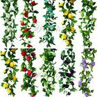 2x Artificial Silk Rose Flower Ivy Vine Leaf Hanging Garland Wedding Home Decor