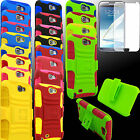 Case for Samsung GALAXY Note II 2 Holster BBYK Skin Belt Clip PC Silicone Screen