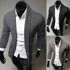 Men Casual Slim Fit Wool Knitted Cardigan Pullover Jumper Sweater Tops