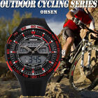 Hot Cheap Mens Watch Sport Lcd Dual Core Red Date Day Stopwatch Countdown 2014