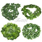12PCS Artificial Ivy Leaf Garland Plant Vine Fake Foliage Flowers Home Decor