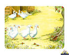 Tuftop Glass Chopping Board Geese Gaggle Goose Family Worktop Saver in 3 Sizes