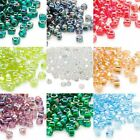 Lot of 2,700 Glass Miyuki 4mm 5/0 Triangle Seed Beads With Fancy AB Iris Finish
