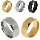 8mm Stainless Steel Ring Band Titanium Silver Black Gold Men SZ 5 to 14 Wedding