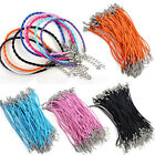 10pcs Bulk Lots Fashion Mixed Color Twist Leather Cord Rope Bracelets Bangle