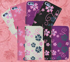 NEW FLOWERS FLORAL LEATHER WALLET CASE COVER IPHONE 5 5S + FREE SCREEN PROTECTOR