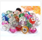 Mixed Colour Silver Buckle Acrylic Beads/Core Fit European Charms Bracelets 14MM